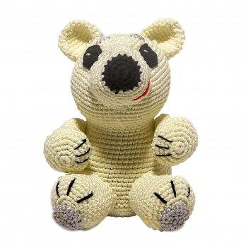 Набор для вязания игрушки белый мишка айсберг 15х10 см