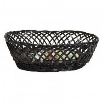 Фруктовница круглая, d=25 см, пластик, чёрная