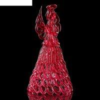 Колокольчик сувенирный «хрустальный ангел», ручной работы, красный