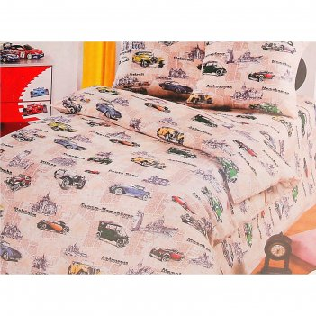 Детское постельное бельё 1,5 сп. «автокруиз»
