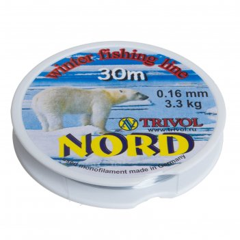 Леска nord-1 30 м, d=0,16 мм.