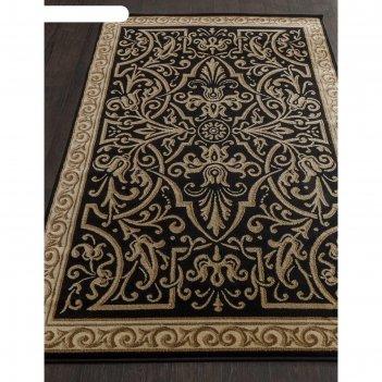 Прямоугольный ковёр izmir d718, 200x300 см, цвет black-beige