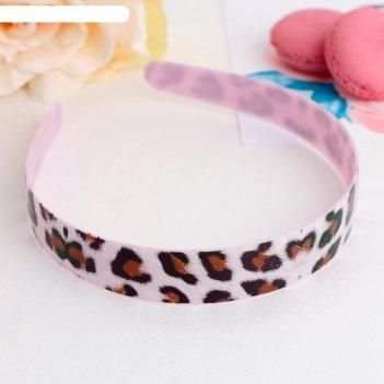 Ободок для волос леопард 2 см, микс