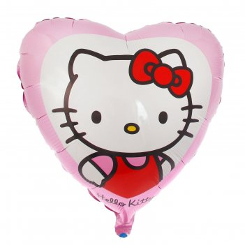 Шар фольга 18 сердце hello kitty в розовом фм