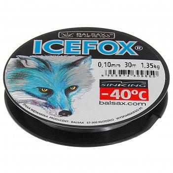Леска зимняя balsax ice fox 0,10 30м