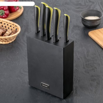 Набор кухонных ножей nadoba jana, 5 шт: лезвия 9 см, 12 см, 20 см, 20 см,