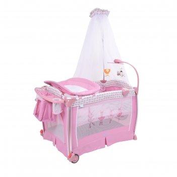 Манеж-кроватка  nuovita fortezza, rosa / розовый
