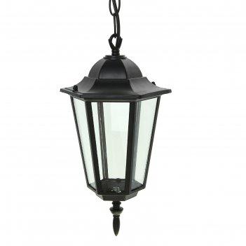 Светильник tdm 6060-05р садово-парковый шестигранник, 60 вт, подвес, черны
