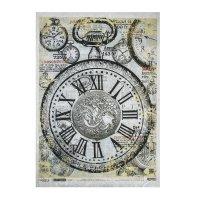 Рисовая бумага для декупажа карманные часы формат a3, 25г/м