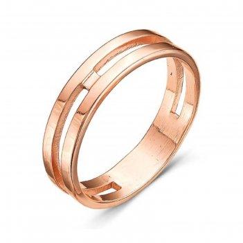 Кольцо минимализм, позолота, 18,5 размер