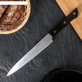 Нож кухонный samura harakiri для нарезки, лезвие 196 мм