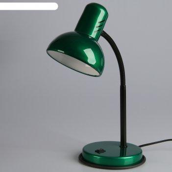 Светильник настольный нт 2077а (220 в лн е27) зеленый перламутровый