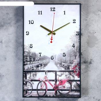 Часы настенные, серия: город, романтическая прогулка, 37х61 см