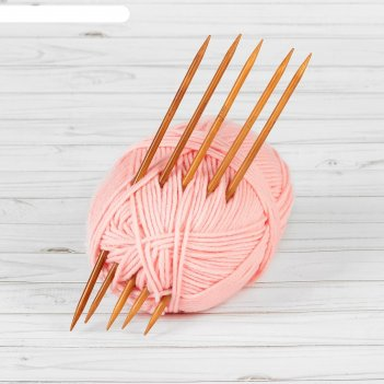 Спицы для вязания, чулочные, d = 6 мм, 25 см, 5 шт