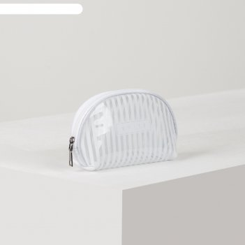 Косметичка пвх глянец white, 17*6*12, отдел на молнии. белый