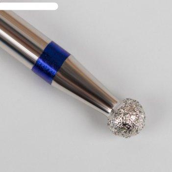 Фреза алмазная для маникюра «шар», средняя зернистость, 2,7 мм