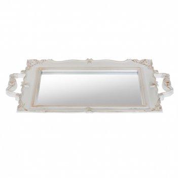 Поднос с зеркалом, l42 w2 h26 см