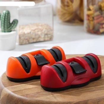 Точилка для металлических ножей с полировкой, на присоске «профи», цвет ми