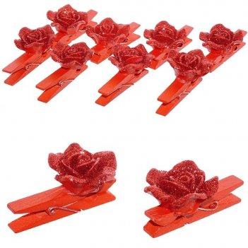 Набор декоративных изделий из 8шт. прищепка-розы, l2,9 w2,7 ...