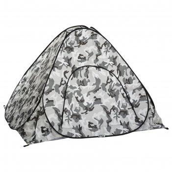 Палатка зимняя автомат 2*2 см, цвет кмф дно на молнии (pr-d-tnc-036-2)