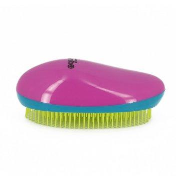 Щетка массажная dewal beauty, для легкого расчесывания волос,овальная, цве