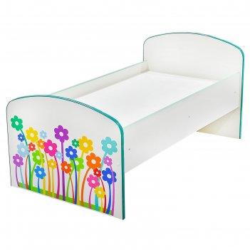 Детская кровать цветочки