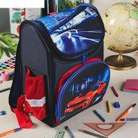 Рюкзак школьный каркасный тачка, 26 х 16 х 36 см