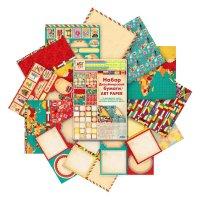 Набор дизайнерской двусторонней бумаги большое путешествие 12 листов, 160