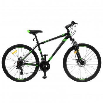 Велосипед 27,5 stels navigator-700 md, f010, цвет черный/зеленый, размер 1