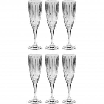 Набор из 6 бокалов для шампанского skyline, 180 мл