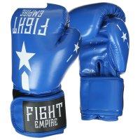 Перчатки боксерские, детские, 8 унций, цвет синий