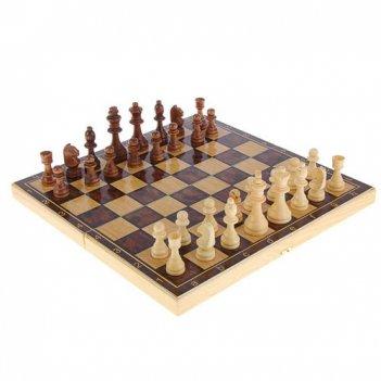 Набор средний 3 в 1 классические  (шахматы, нарды, шашки)