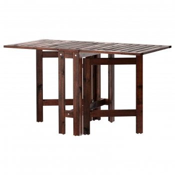 Складной стол эпларо, садовый, коричневая морилка