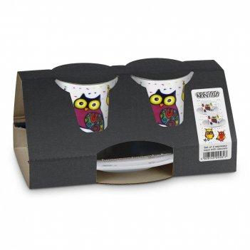 Koenitz набор из 2 кофейных пар эспрессо разноцветные животные - совы