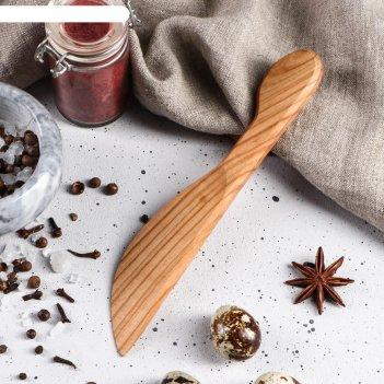 Нож деревянный, для масла, 20 см, массив черешни