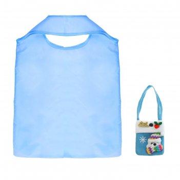 Сумка хозяйственная, складная, 1 отдел, цвет голубой