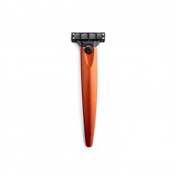 Бритва bolin webb r1, оранжевый металлик, gillette mach3