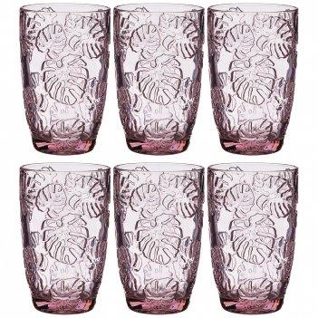 Набор стаканов джангл 6шт. серия muza color 300 мл высота=12,5 см. (кор=4н