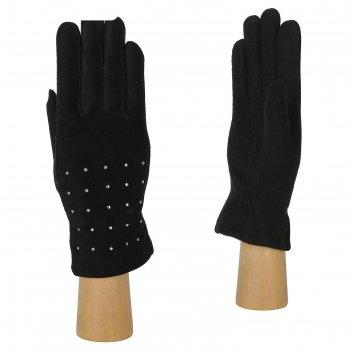 Перчатки женские, натуральная кожа, размер 7, черный