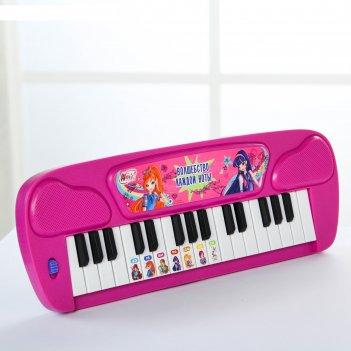 Синтезатор «волшебные мелодии», феи винкс, работает от батареек, цвета мик