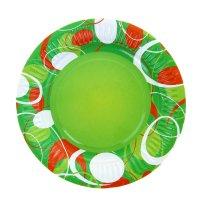 Тарелка с ламинацией зеленое настроение, 18 см