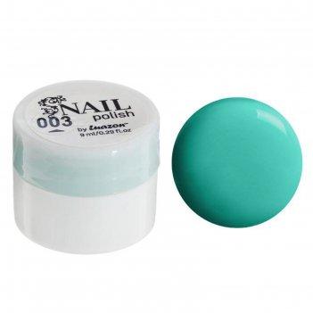 Гель-краска для ногтей 3-х фазный, 8мл, 03, цвет ярко-зелёный