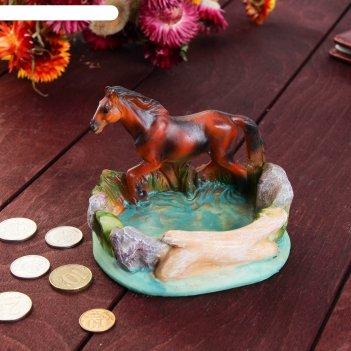 Монетница конь на бегу, 10х11 см