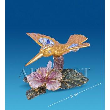 Ar-4352/ 2ge композиция колибри на цветке (юнион)