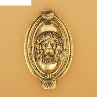 Дверной молоток латунь лев 13,5х8,5х2,5 см