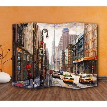 Ширма картина маслом. америка, двухсторонняя, 200 x 160 см