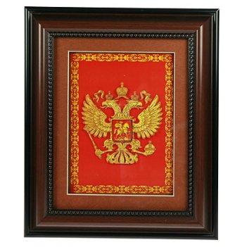 Коллаж 3d герб россии 30*36см