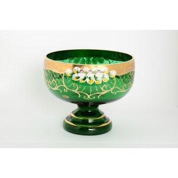 Фруктовница bohemia лепка зеленая e-s 26 см