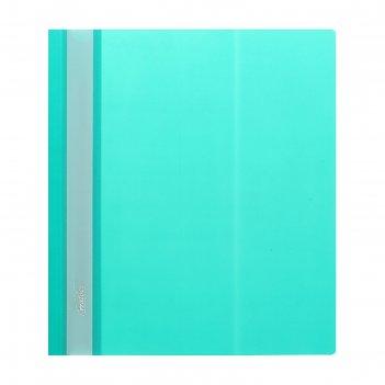 Папка-скоросшиватель а5, 140/180 мкм, hatber, зеленая