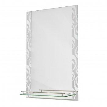 Зеркало в ванную комнату 80x60 см ассоona a626, 1 полка